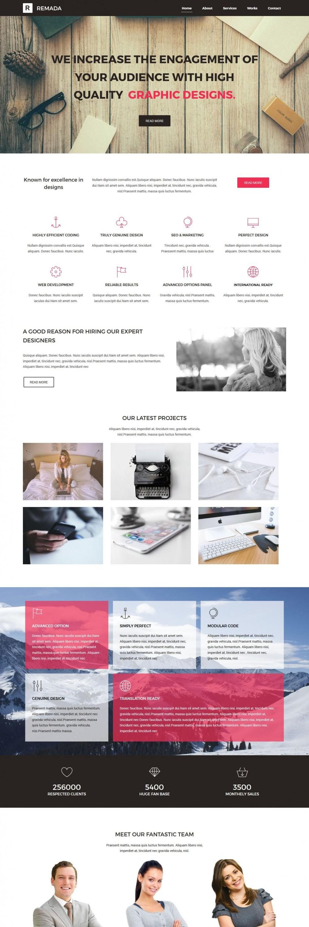 Remada - WordPress Theme For Graphic And Web Design Agency