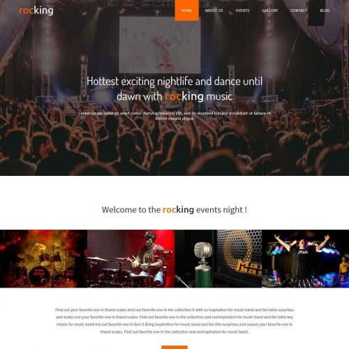 Rocking - Event/Night Club Free WordPress Theme