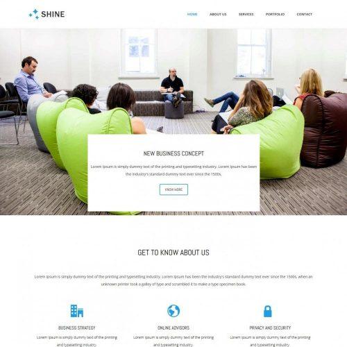 Shine - Business Advisor Free WordPress Theme