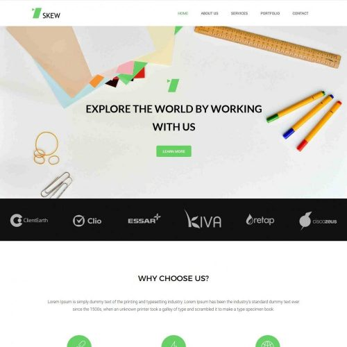 Skew - WordPress Theme For Web-Design Agency