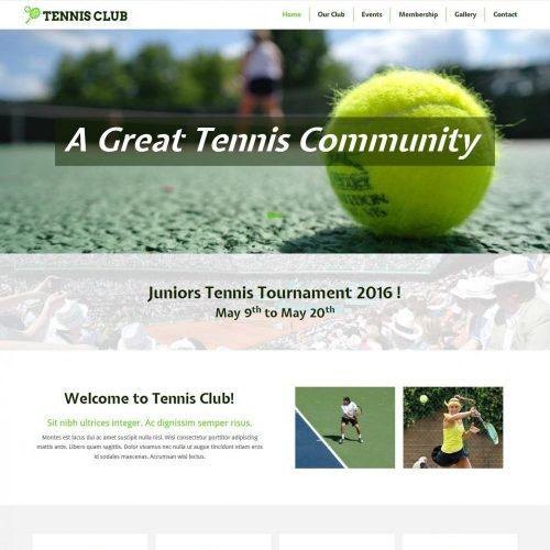 Tennis Club - Free WordPress Theme For Tennis/Badminton Club