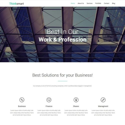 Thinksmart - Free WordPress Theme For Finance Agencies