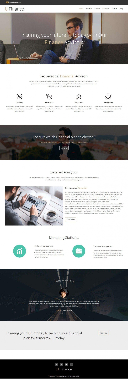 U Finance - Finance/Business Portfolio Free WordPress Theme