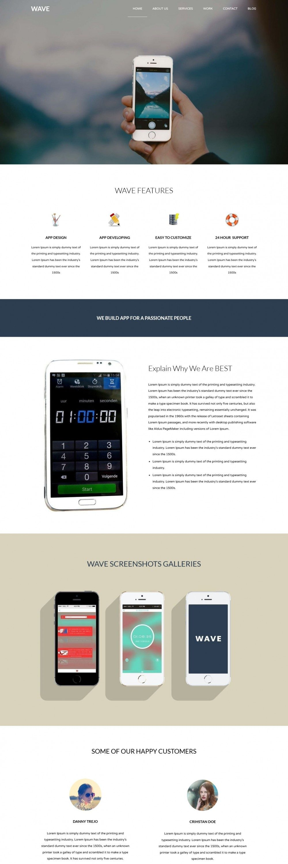 Wave - Free WordPress Theme For App Development Company