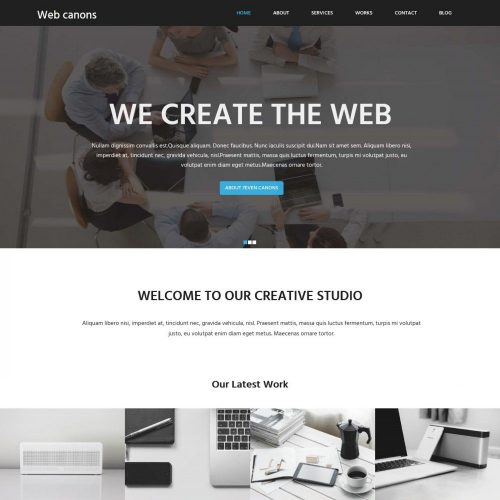 Web Canons - Corporate Free WordPress Theme For Web Agency/Studio