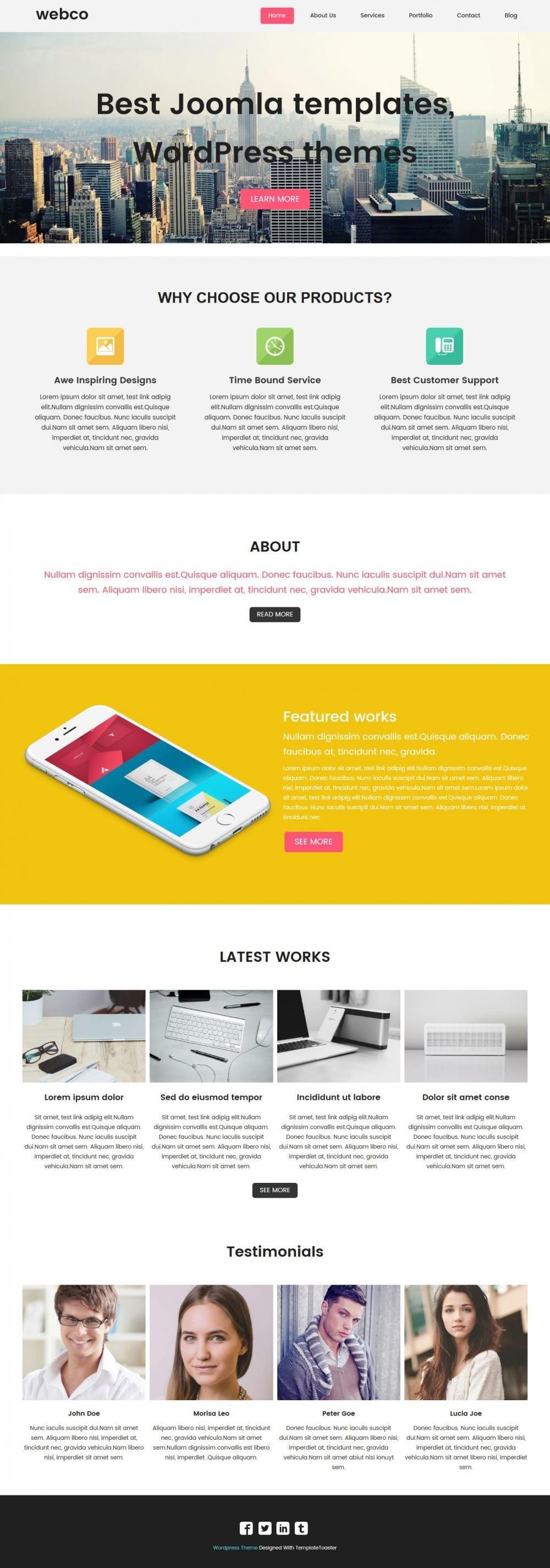 Webco - Free WordPress Theme For Web Design Agencies