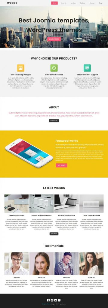 Webco Web Design Agencies Wordpress Theme Templatetoaster