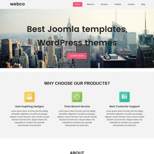 Webco - Free WordPress Theme For Web Design Agencies