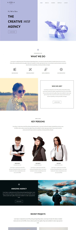 XERO - Responsive Web Agency WordPress Theme