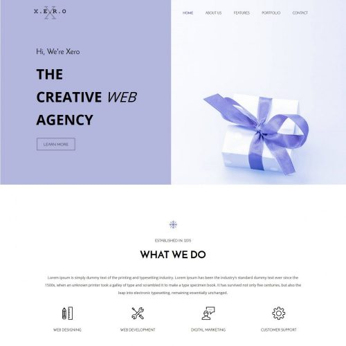 XERO - Responsive Web Agency WordPress Theme