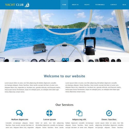 Yacht Club - Professional Sports/Yacht Club Free WordPress Theme
