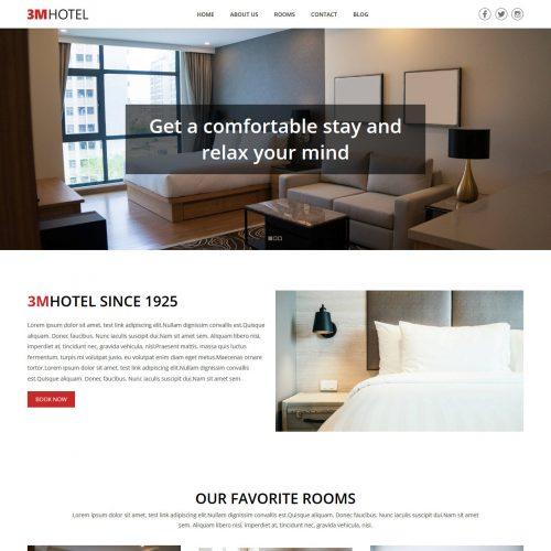 3M Hotel Resort Blogger Template