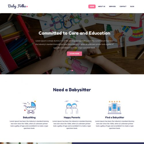 Baby Folks Babysitter blogger template