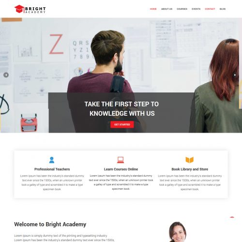 Bright Academy Learning Academy blogger template