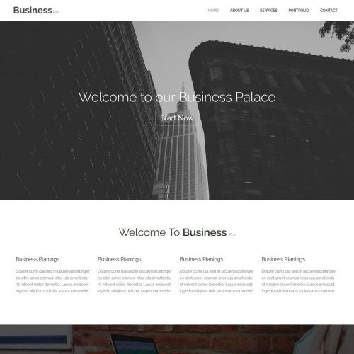 Business Consultant Marketing blogger template