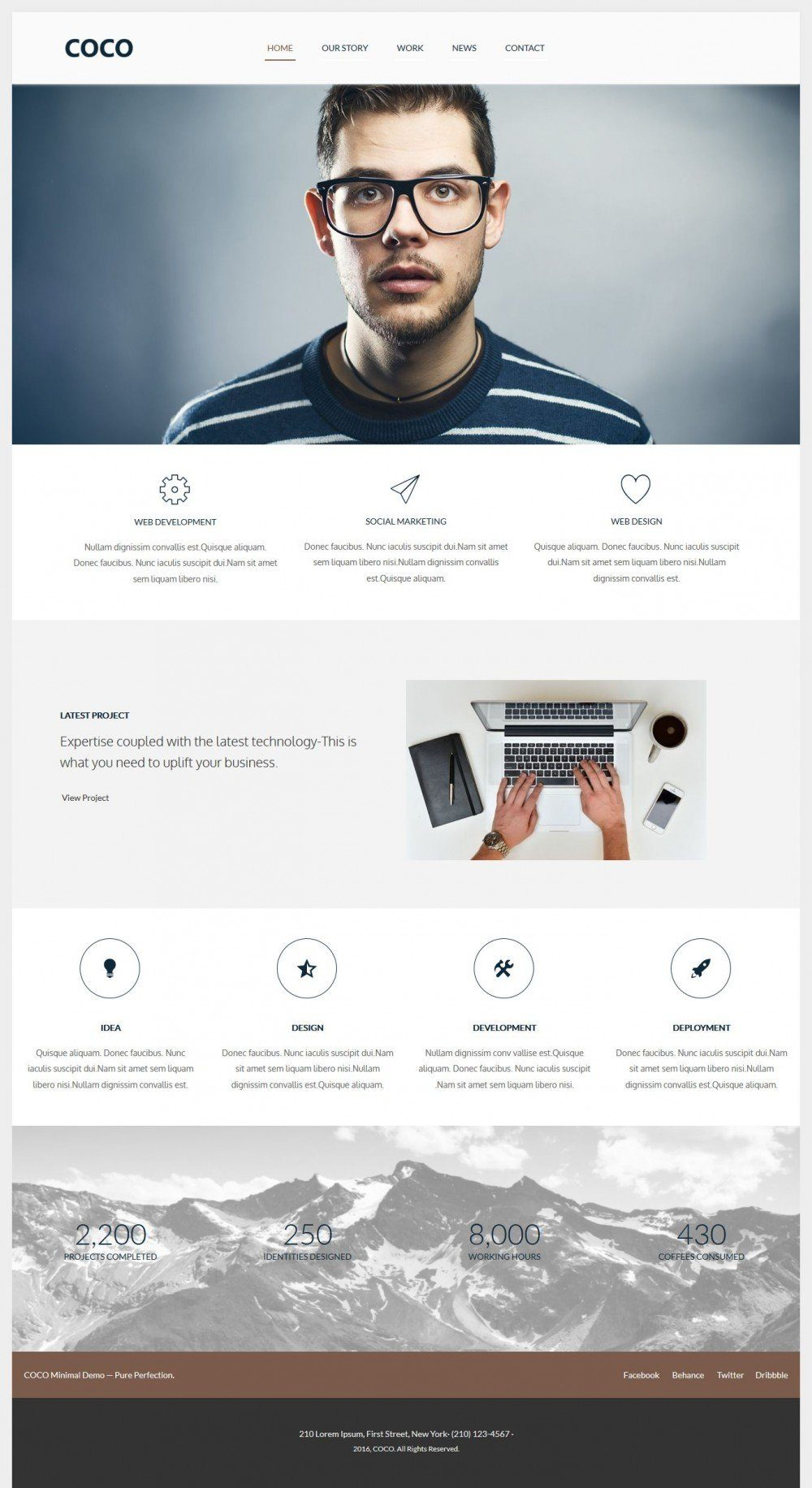 COCO - Flat Designed Joomla Web Agency Template