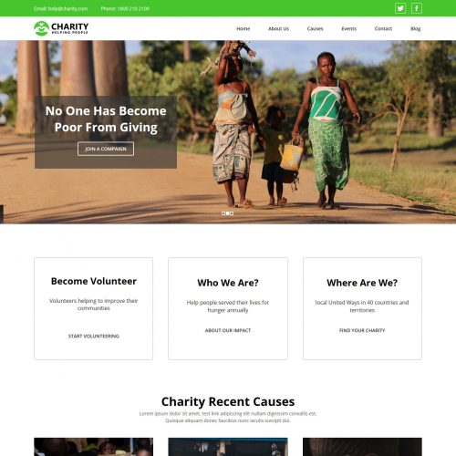 Charity Fundraising Blogger Template