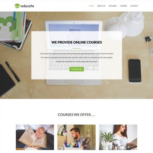 Educate Educational Courses Center blogger template