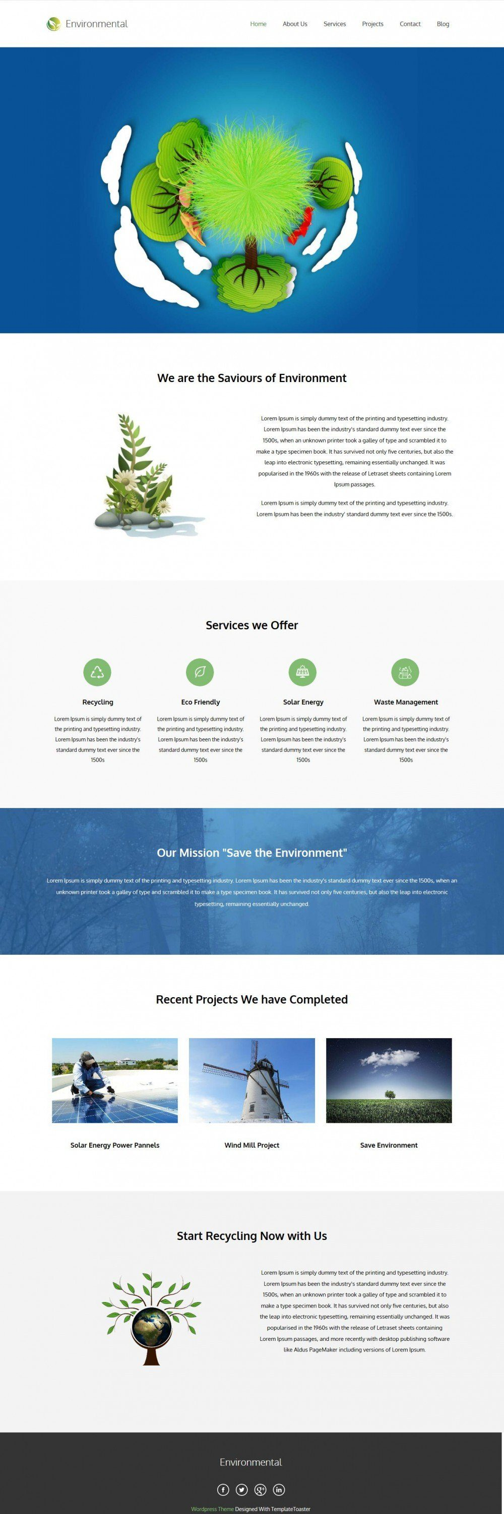 Environmental Environment Nature Blogger Template