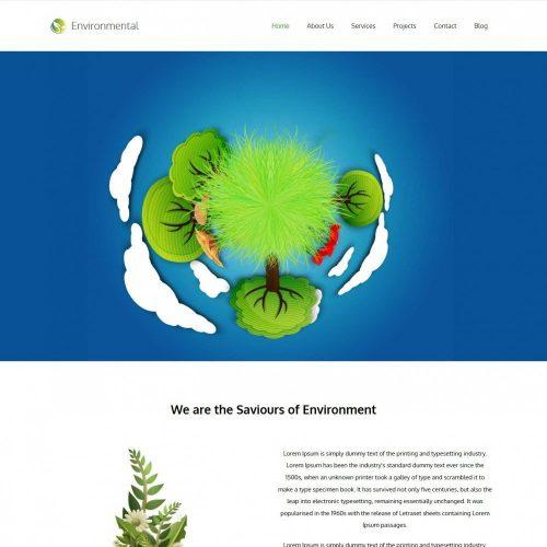 Environmental Environment Nature Blogger Template