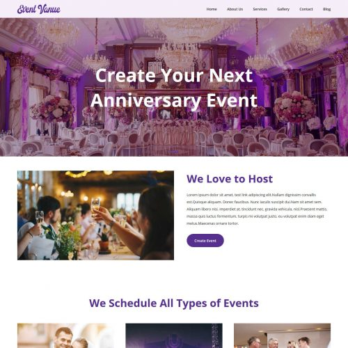 Event Venue Management Blogger Template