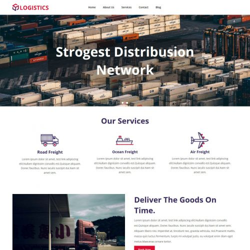 Logistics Cargo Company Blogger Template
