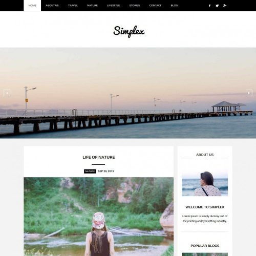 Simplex - Responsive Joomla Template for Blog