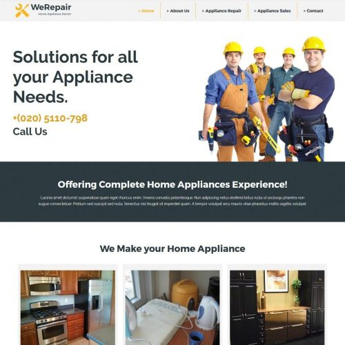 WeRepair - Home Appliance Repair Company WordPress Theme