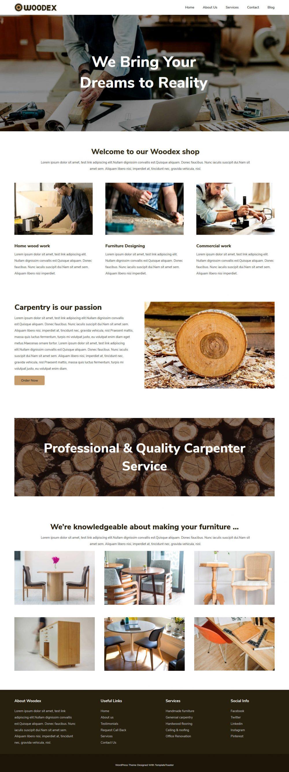 Woodex Carpenter Blogger Template