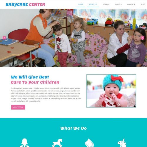 babycare center creche pre school blogger template