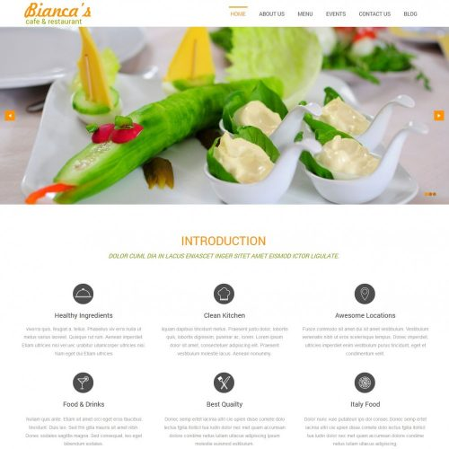 bianca restaurant blogger template