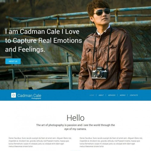 cadman cale personal photography blogger template