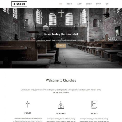 churches charity fund raising blogger template