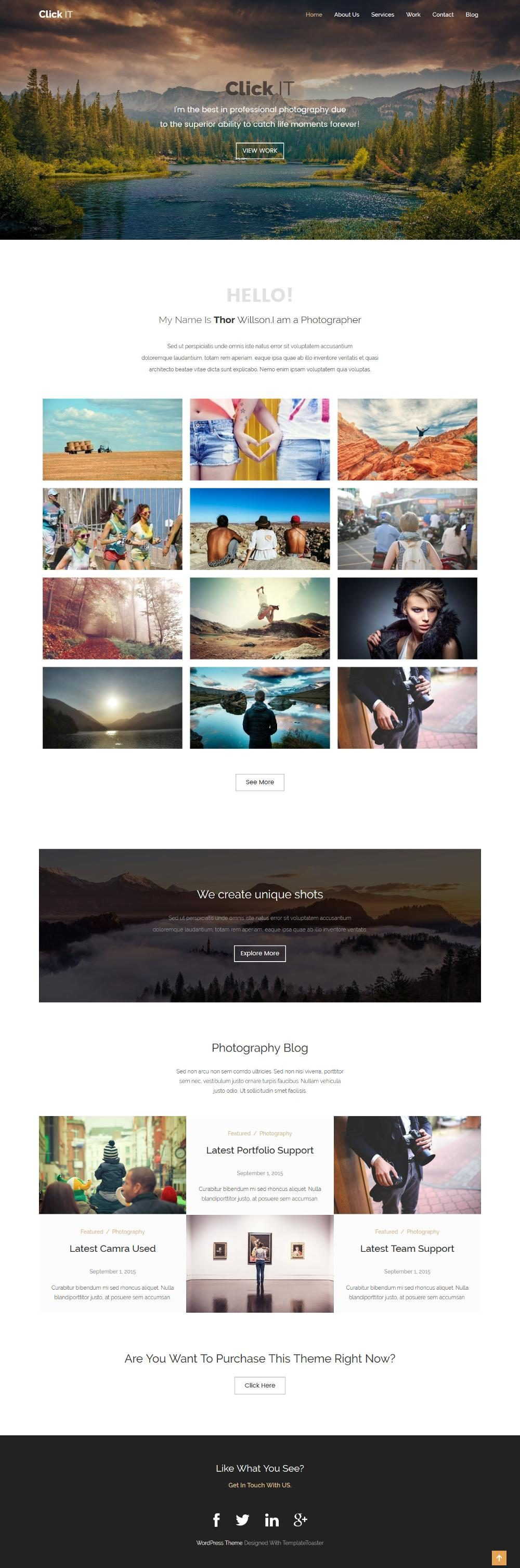 click it photography portfolio blogger template