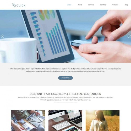 click web agency blogger template