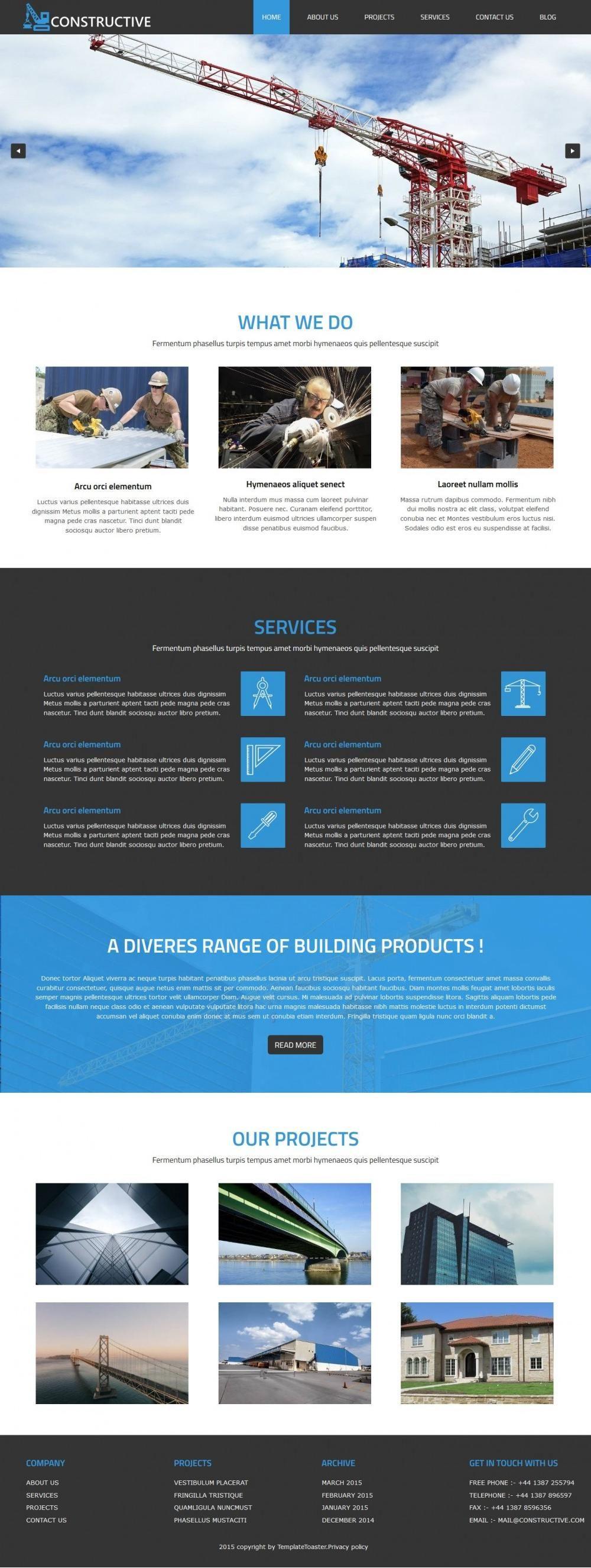 constructive construction builders blogger template