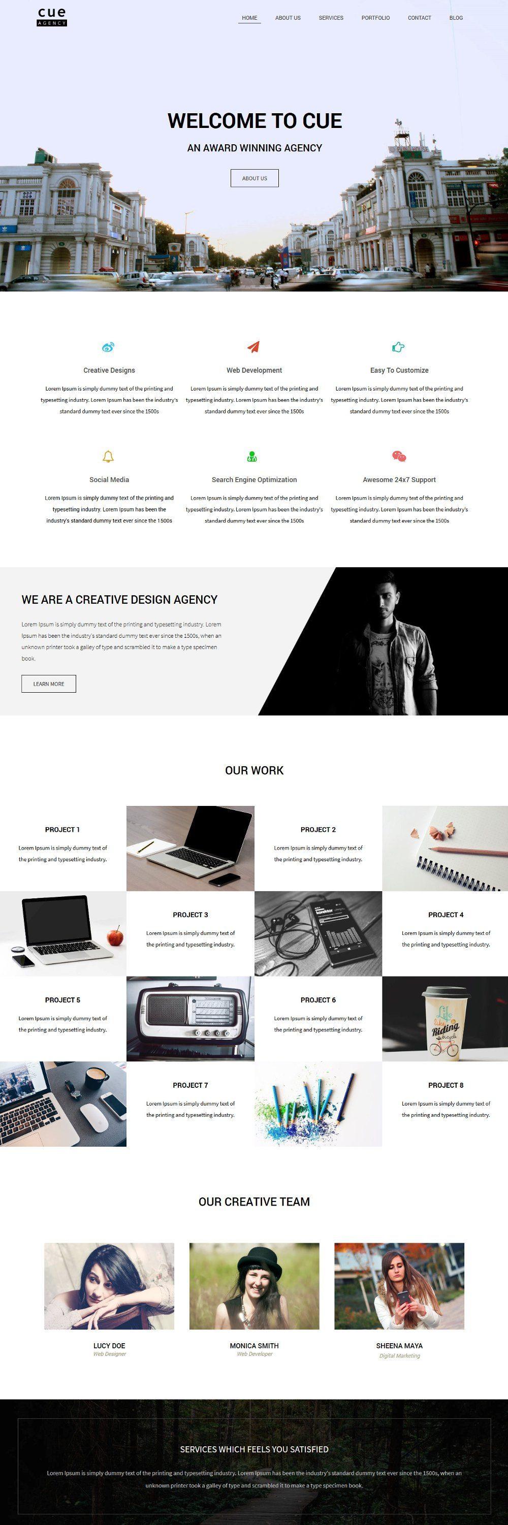 cue web development company blogger template