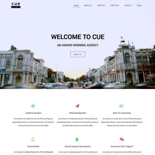 cue web development company blogger template