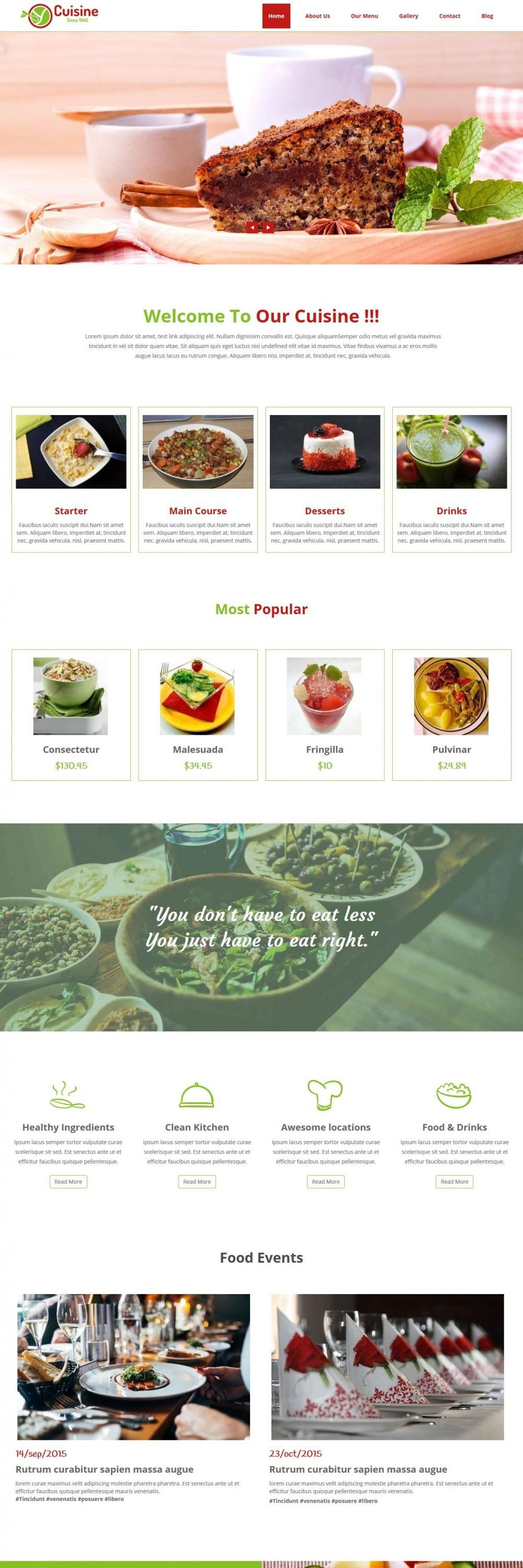 cuisine cafe restaurant blogger template