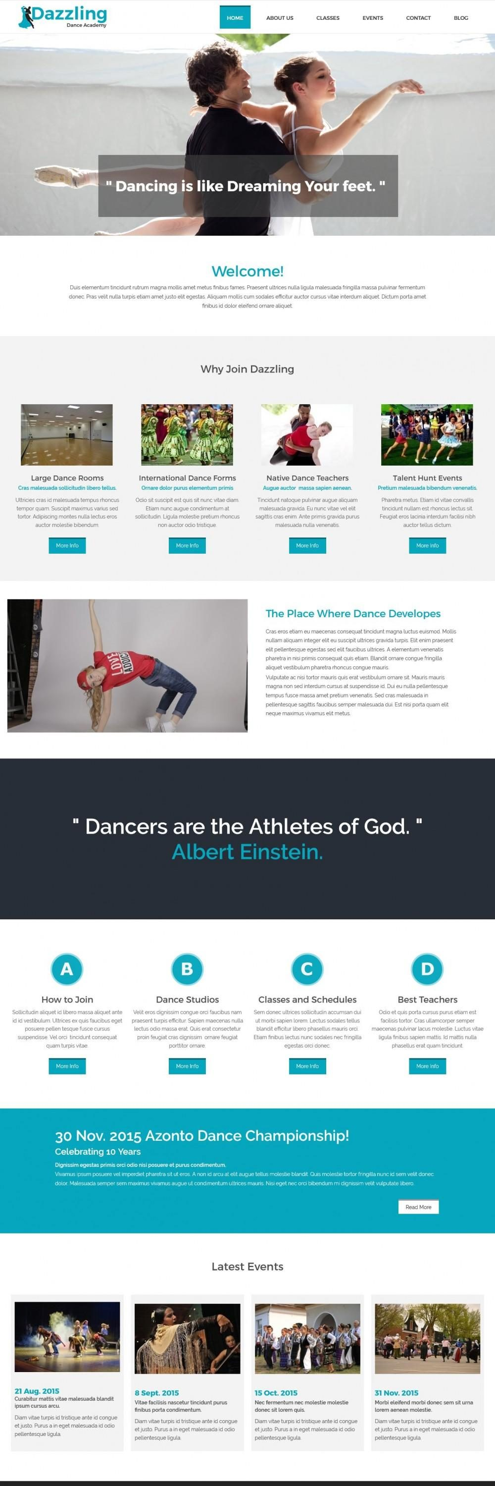 dazzling dance academy blogger template