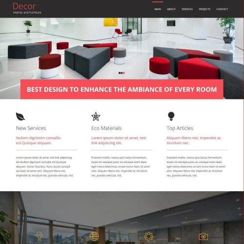 decore interior and furniture blogger template