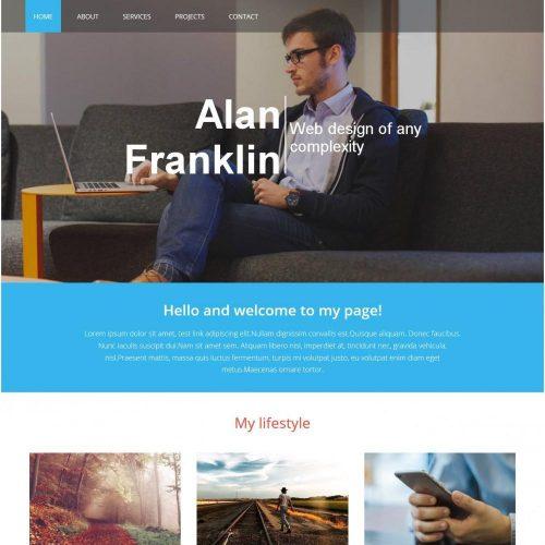 designer portfolio blogger template