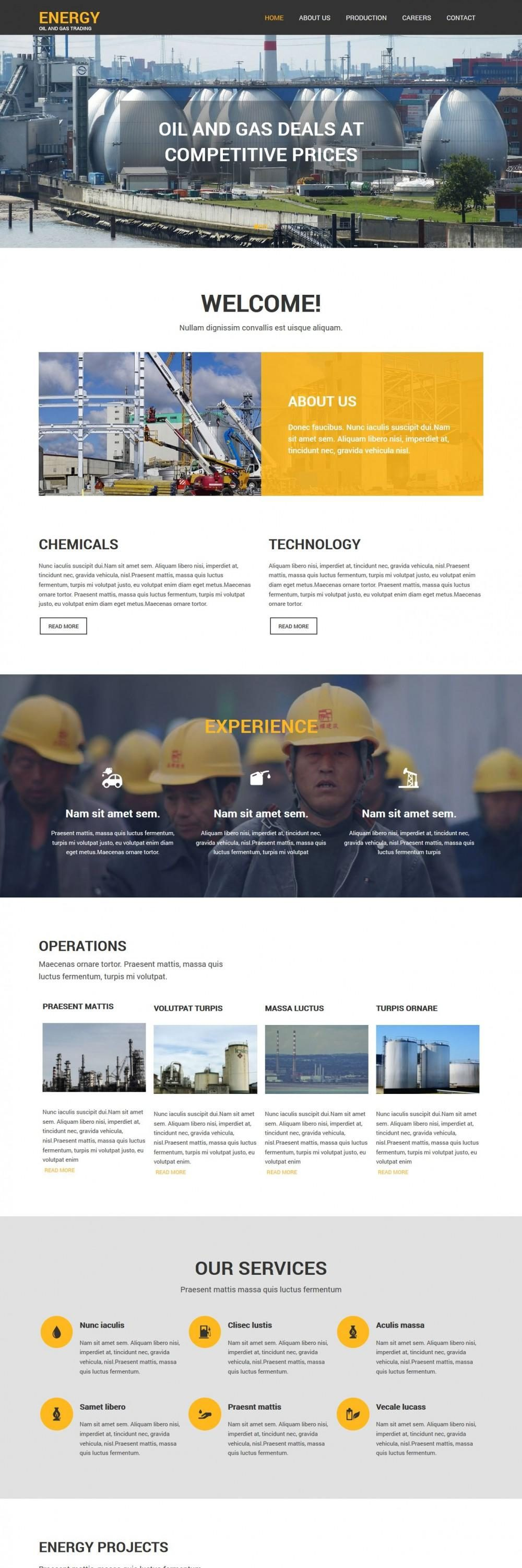 energy oil gas trading coporation blogger template