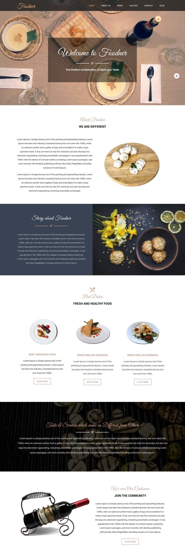 foodner restaurant hotels blogger template