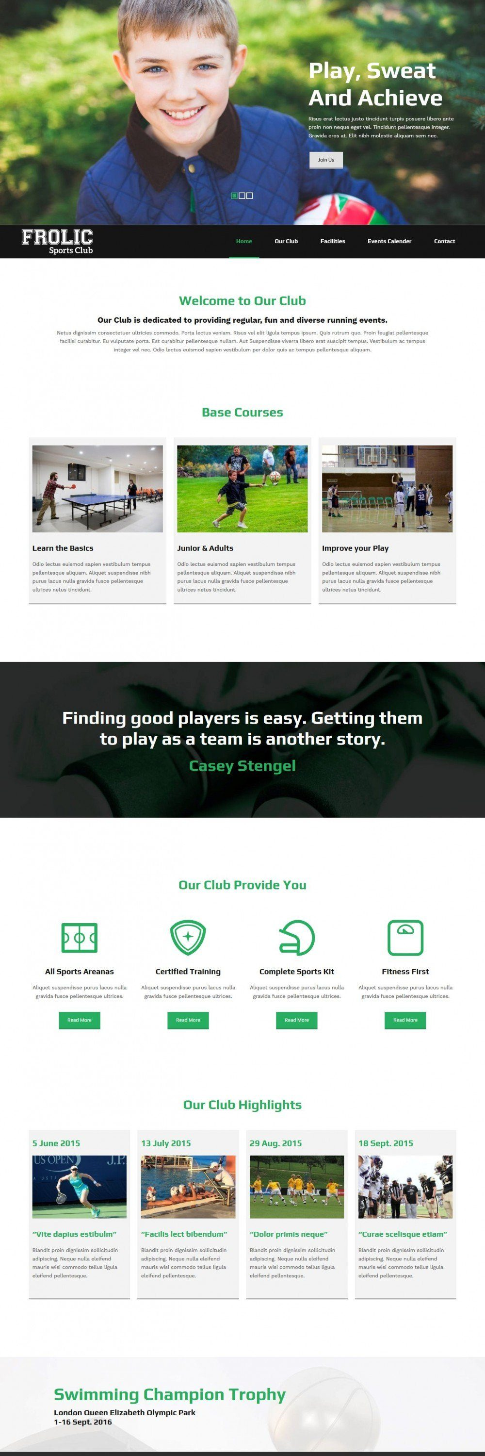 frolic sports club blogger template
