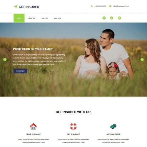 get insured insurance company blogger template