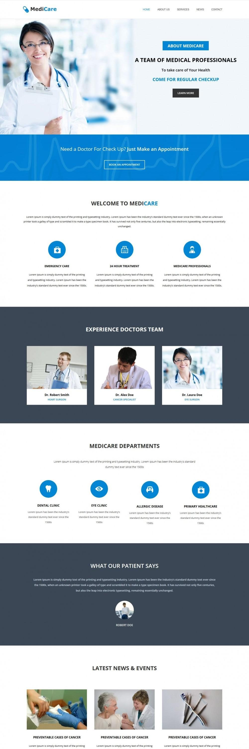 MediCare - Health Care Medical WordPress Theme