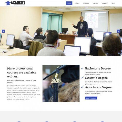 Academy HTML Template