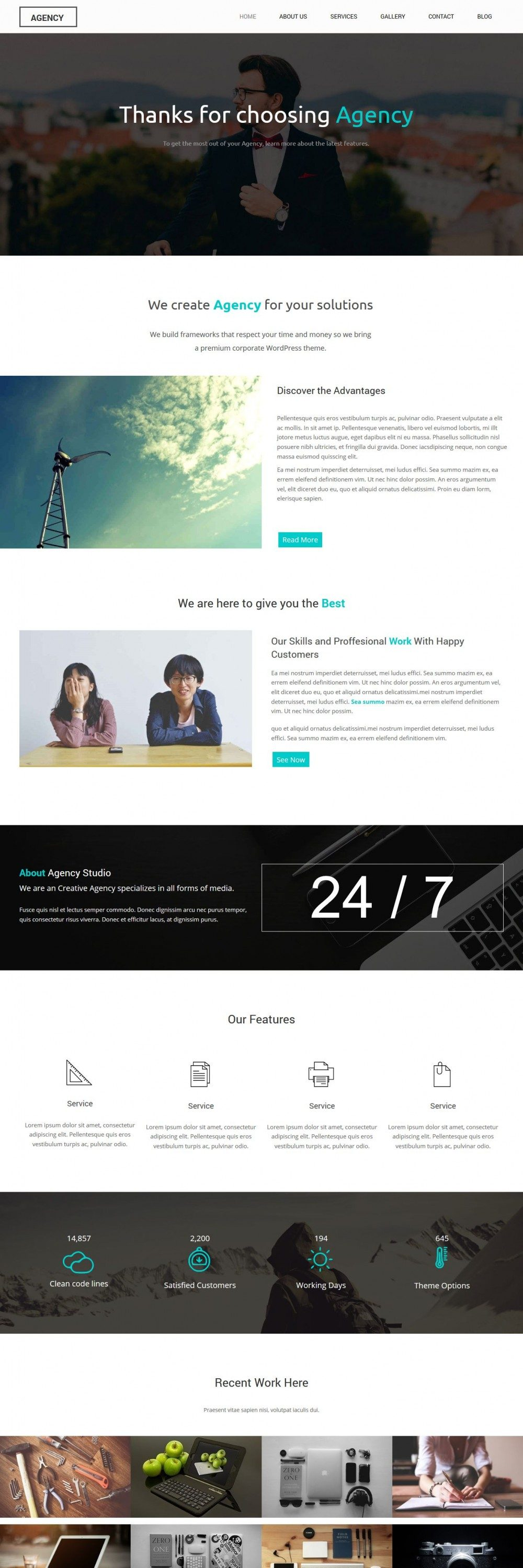 Agency Creative and Simple HTML Template