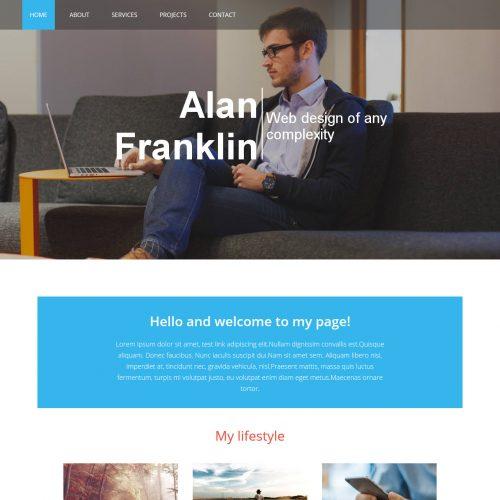 Alan Web Designer Portfolio HTML Template